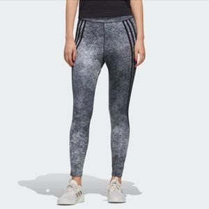 NWT ADIDAS HIGH RISE FITTED TIGHTS LEGGING - XS